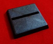 25mm Games Workshop Square slotta straight slotted plastic black Warhammer Wargame Base x1
